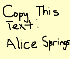 Copy this text: Alice Springs