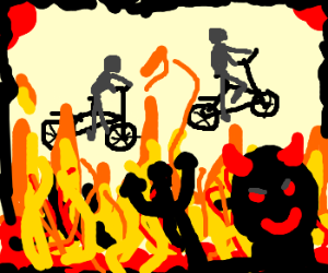 Tonight we ride bicycles in Hell!