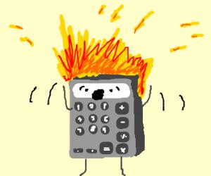 calculator in fire