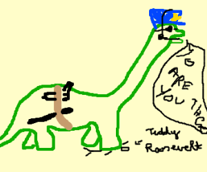 Dino cop calls upon Teddy Roosevelt