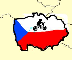 Bike flying over Czech republic