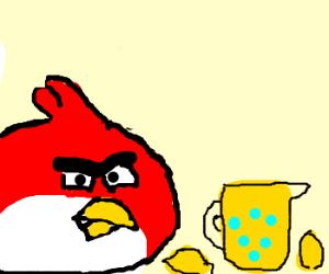 Angry Bird Making Lemonade