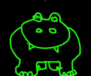 Lite-Brite hippo.