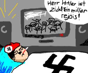 Hitler comes down sick- millions rejoice