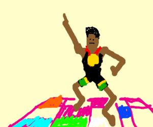 Usain Bolt at a disco