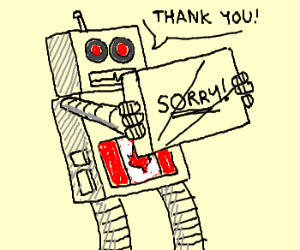 Canadian robot thankful for board game