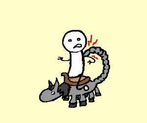 scorpion/ horse hybrid stings its rider.