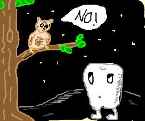 Owl says no to the tooth-man