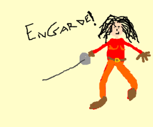 woman with large hair wants to duel