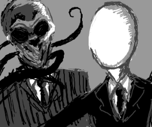 the silence vs slenderman drawception