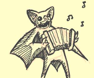 Batman plays accordian