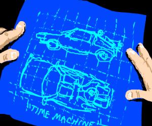 Back to the Future DeLorean blueprints?