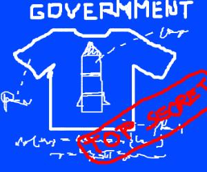 government secrets plans :rocket t-shirt