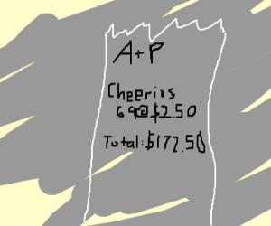 69 cheerios box