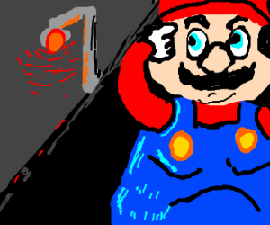 Obese Mario curious about prostitute