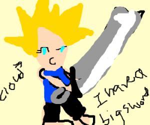 Cloud Strife compensating for something