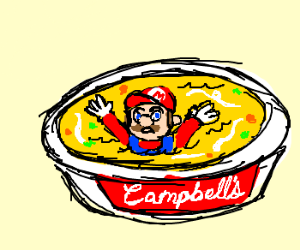 Mario Drowns in Chicken Soup