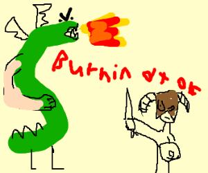 Trogdor in Skyrim