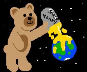 massive bear covers world in space honey