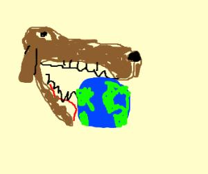 Gaint dog haed etas erhta