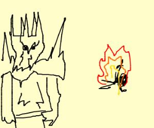Sauron burns someone alive