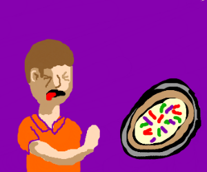 Kid doesn't want to eat vegetable-pizza
