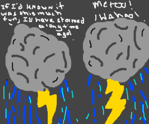 """2 storm clouds enjoy their """"first time"""""""