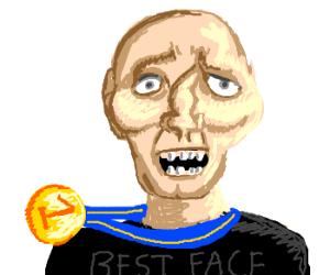 Guy Gets Gold Medal For Face