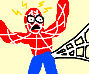 Spiderman has power incontinence