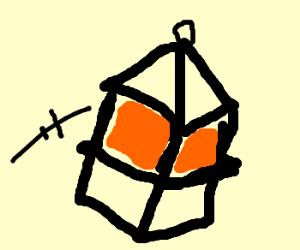 Flying lantern.