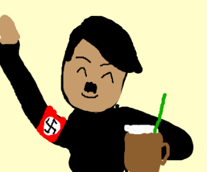 Hitler enjoying a nice rootbeer float