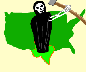 Even the grim reaper is bigger in TX