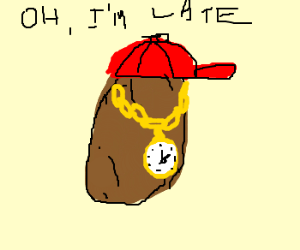 Cool hot (by all means) potato is late.