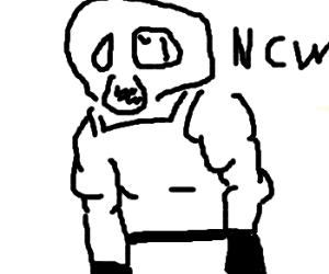 Wrestler loves propane. No! WAIT! BANE!