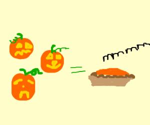 jack o'lanterns make good pumpkin pie