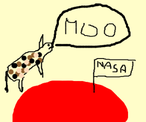 cow jumps over Mars