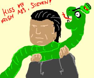 Irish snake strangles steven seagal