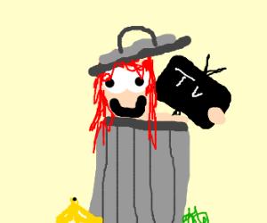 Redhead girl in some trash tv program