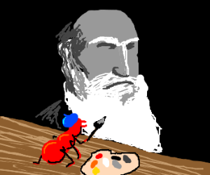 Red ant paints Darwin.