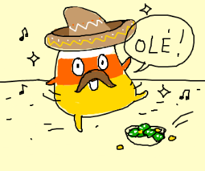 Mexican candy corn performs