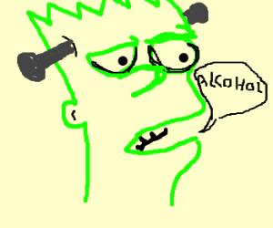 Simpson's Frankenstein wants alcohol