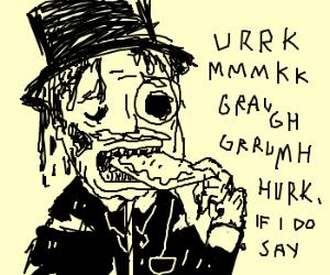 Zombie eats poptart like an em-effin sir