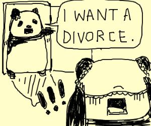 I want a divorce.