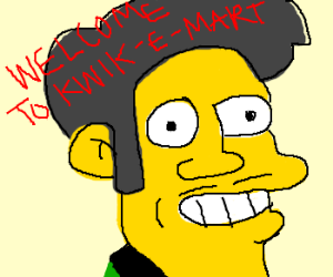 Appu from the simpsons, yellow skin