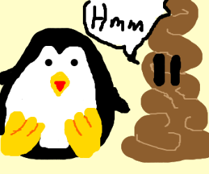 Peter penguin and the pensive poo
