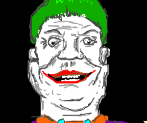 green haired clown