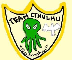 Team Cthulhu badge /w white ghost bird!
