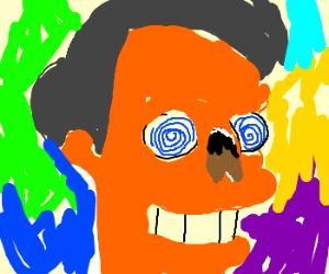 Apu trips on acid; loses nose