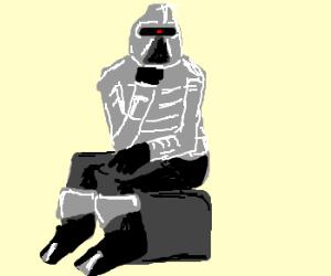 Cylon Robot thinks hard.