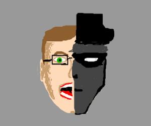 frightened nerd merges w/ dark stranger